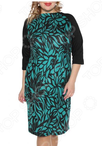 Платье VEAS «Нежный жасмин». Цвет: бирюзовый