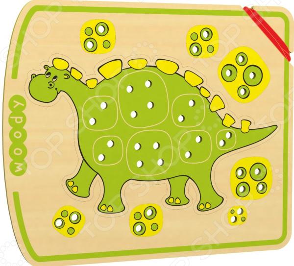 Игрушка развивающая WOODY «Шнурозаврик-1» мягкая игрушка интерактивная woody o time лошадка непоседа