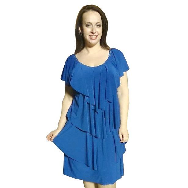 фото Платье Klimini Мальдивы. Цвет: синий. Размер одежды: 50