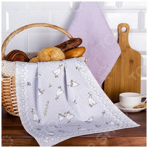 Комплект из 2-х полотенец Santalino «Гуси. Легард» 850-710-62 полотенца santalino полотенце shulamite 40х70 см