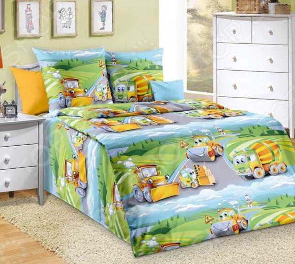 Детский комплект постельного белья ТексДизайн «Дорожный патруль»