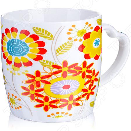 Кружка Loraine LR-21549-1 «Цветы»