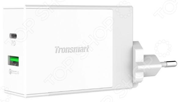 Устройство зарядное сетевое Tronsmart с двумя портами и USB PD зарядное с бустером купить в мурманске