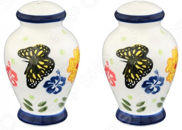 Солонка и перечница Elan Gallery «Бабочки»