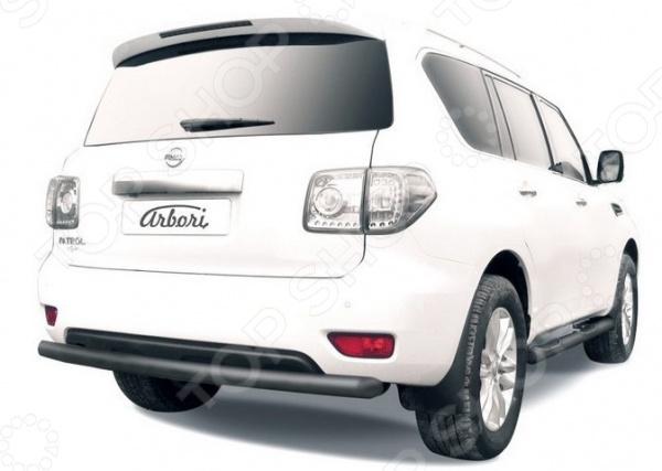 Защита заднего бампера Arbori короткая для Nissan Patrol, 2012-2014 2qty задний багажник потрясений распорки для nissan 350z 2004 2007 кабриолет только