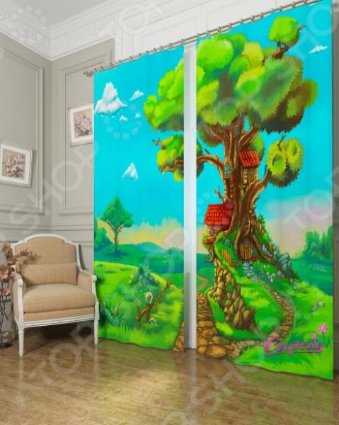 Фотошторы Сирень «Дом в дереве»