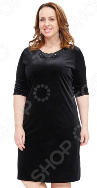 Платье Лауме-стиль «Бархатный шарм». Цвет: черный
