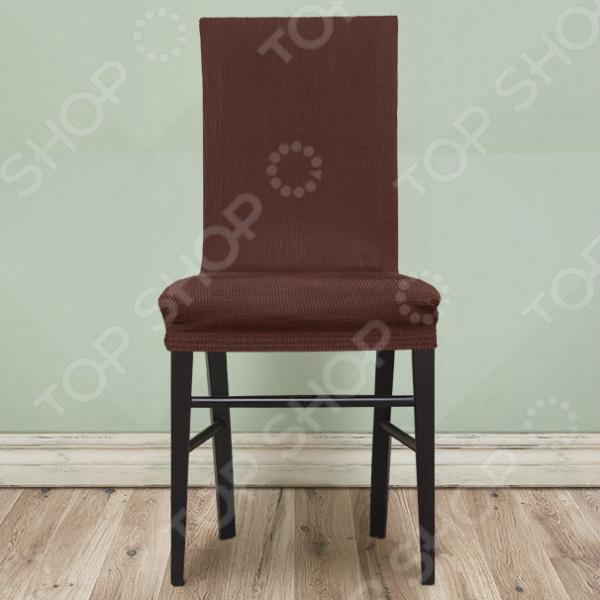 Zakazat.ru: Комплект натяжных чехлов на стул Еврочехол «Рустика». Цвет: коричневый
