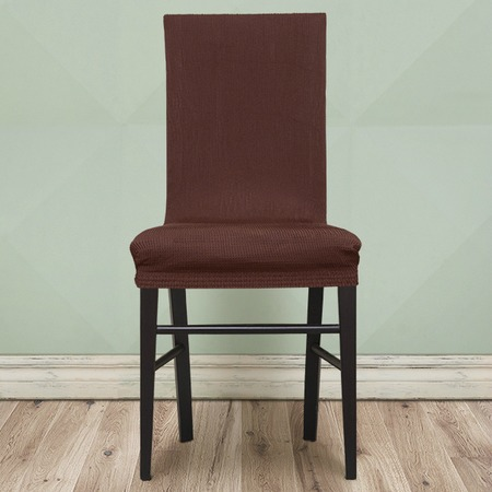 Комплект натяжных чехлов на стул Еврочехол «Рустика». Цвет: коричневый