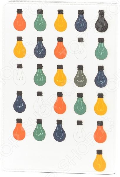 Обложка для автодокументов кожаная Mitya Veselkov «Алфавит лампочек»