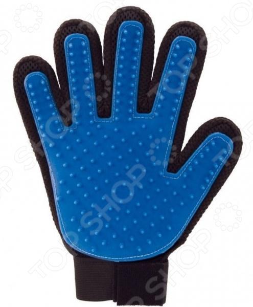 Перчатка для вычесывания шерсти животных True Touch SHB-01-R9