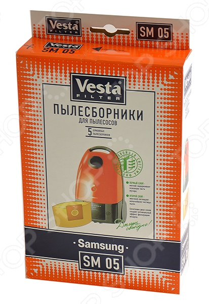 Мешки для пыли Vesta SM 05 мешки для пыли vesta lg 03 s