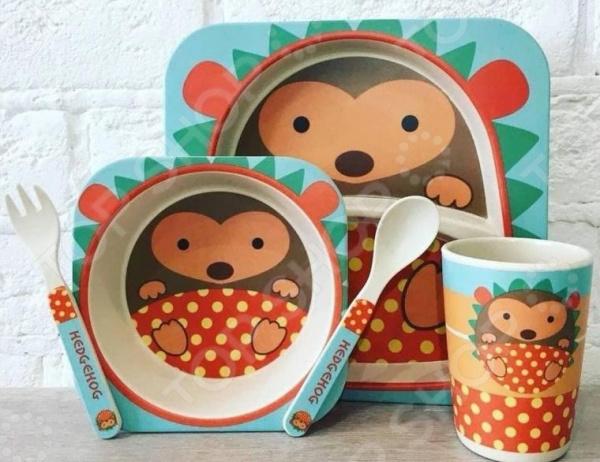 Набор посуды для детей «Ёжик»