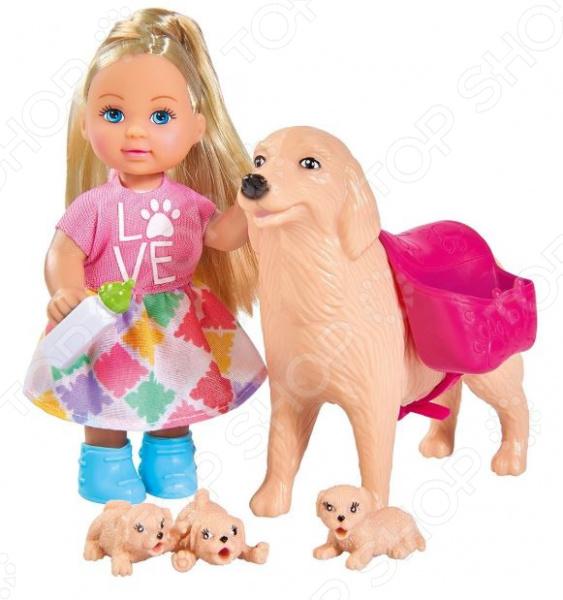 Набор игровой с куклой Simba «Еви с собачкой и щенками»