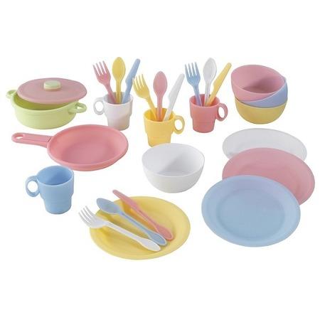 Купить Набор посуды игрушечный KidKraft «Пастель»