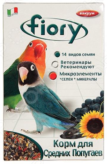 Корм для попугаев средних размеров Fiory Parrocchetti Africa triol корм для мелких и средних попугаев с мёдом