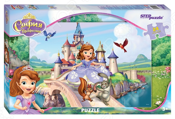 Пазл 24 элемента Step Puzzle puzzle maxi «Принцесса София» puzzle 20 maxi большая репка с 02283