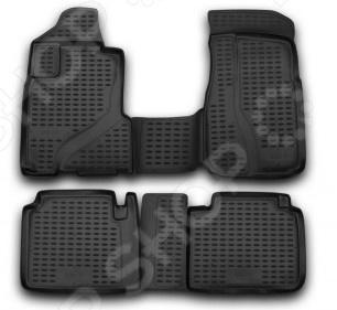 Комплект ковриков в салон автомобиля Novline-Autofamily Honda CR-V 2002-2006 коврик в багажник honda cr v 2002 2006 кросс полиуретан