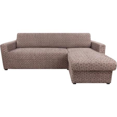 Купить Натяжной чехол на угловой диван с выступом справа Еврочехол «Сиена Сатурно»