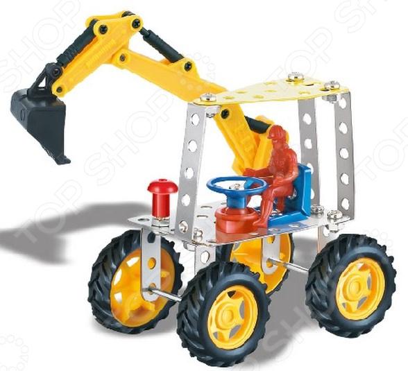 Конструктор металлический Built-Up Toys «Трактор с ковшом»