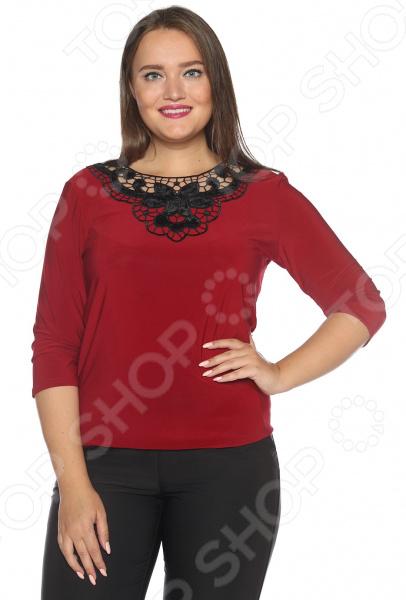 Блуза «Бархатная мечта». Цвет: бордовый