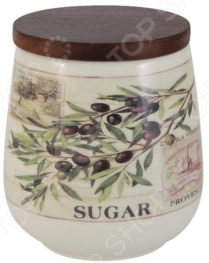 Банка для сыпучих продуктов LF Ceramic «Оливки. Сахар» банка для сыпучих продуктов печенье lf ceramic эдем al 380g0059 lf