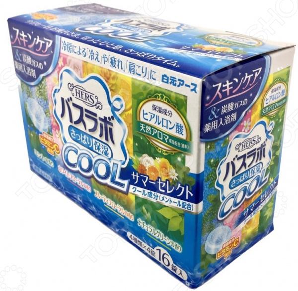 Соль для ванны Hakugen Eartn HERS Bath Labo COOL с ароматами мяты, белого цветочного букета, цветочных фруктов, зеленых листьев кондиционер kao humming аромат цветочного букета 600 мл