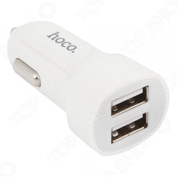 Устройство зарядное автомобильное Hoco Z2A Lightning Cable 2,4 A 2хUSB