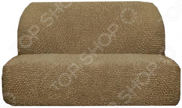 Zakazat.ru: Натяжной чехол на трехместный диван без подлокотников Еврочехол «Микрофибра. Кофейный»