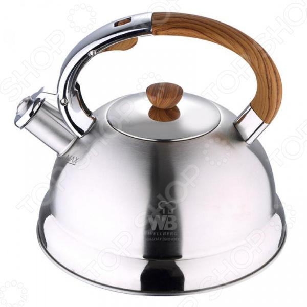 Чайник со свистком Wellberg 6345 WB чайник wellberg wb 3431 f