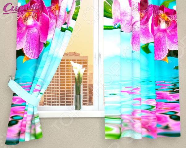 Фотошторы Сирень «Тропический цветок»