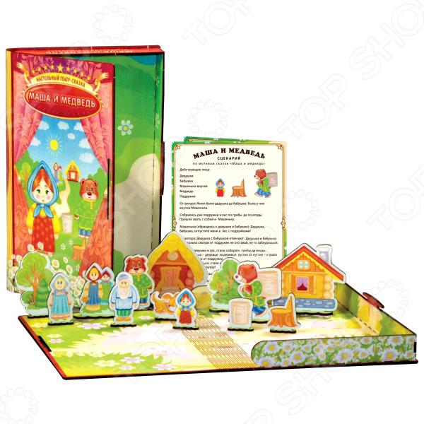Игра настольная обучающая Полноцвет «Театр-сказка: Маша и Медведь»