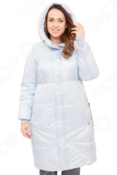 Пальто D`imma «Адела». Цвет: голубой