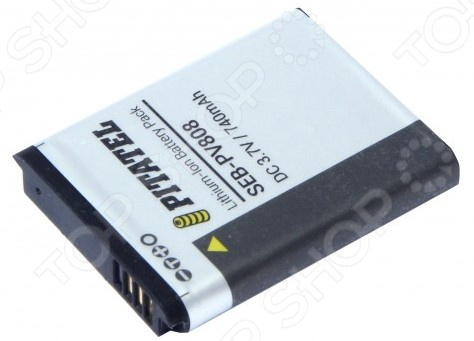 Аккумулятор для камеры Pitatel SEB-PV808 для Samsung Digimax AQ/ES/PL/SL/ST/TL/WP Series, 740mAh