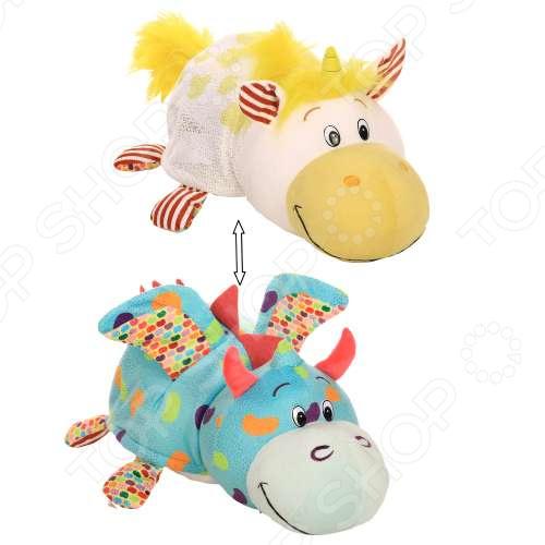Мягкая игрушка ароматизированная 1 Toy большая «Вывернушка 2в1: Единорог-Дракон»