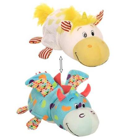 Купить Мягкая игрушка ароматизированная 1 Toy большая «Вывернушка 2в1: Единорог-Дракон»