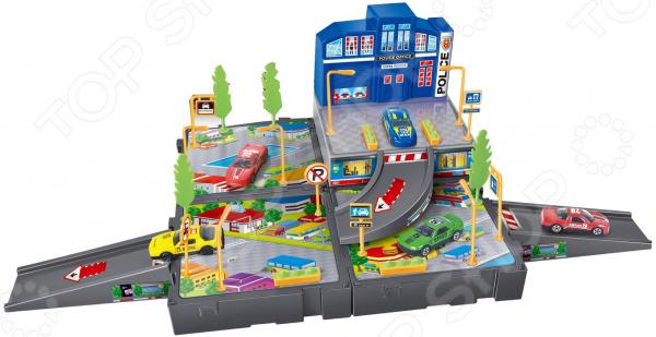 Набор игровой с машинками Dave Toy «Полицейский участок»