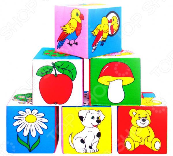 Кубики обучающие мягкие Мякиши «Предметы»