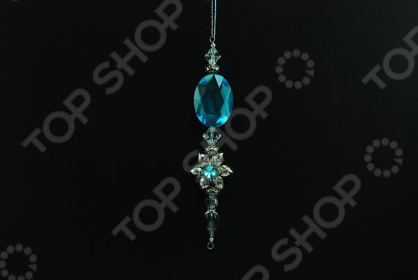 Новогоднее украшение Crystal Deco «Подвеска-цветок»