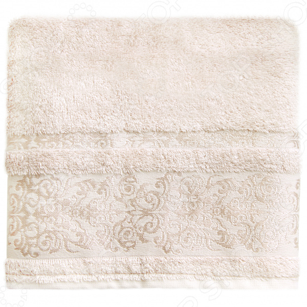 Полотенце банное BONITA «Дамаск». Цвет: шампань