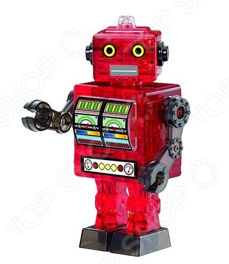 Пазл 3D Crystal Puzzle «Робот красный» crystal puzzle 3d головоломка енот 48 деталей