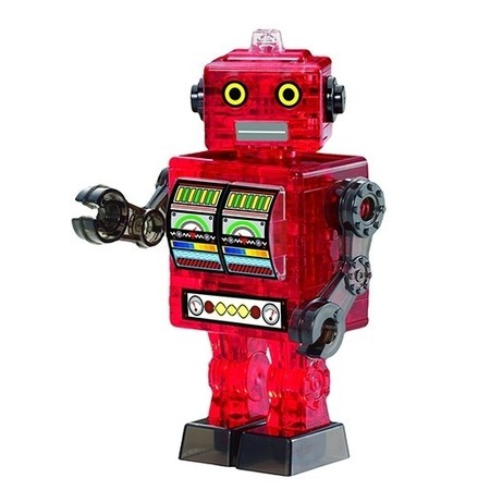 Купить Пазл 3D Crystal Puzzle «Робот красный»
