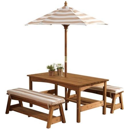 Купить Набор: стол и скамейки с зонтом KidKraft 00500_KE
