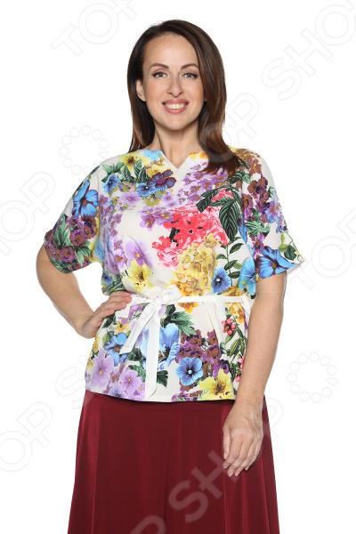 Блуза ТРЕНД «Нектар любви». Цвет: молочный блуза тренд безупречная цвет синий бирюзовый