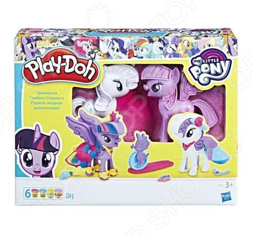 Набор пластилина игровой Hasbro Play-Doh «Твайлайт и Рарити» hasbro play doh b3400 игровой набор туалетный столик рарити