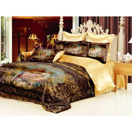 Купить Комплект постельного белья «Аморе». Евро. Цвет: шоколадный