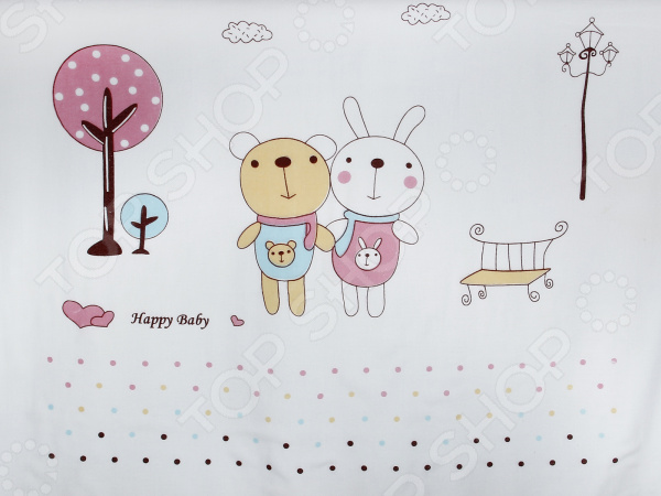 Плед детский Dream Time Happy Baby «Мишка и зайка» постельное белье dream time happy baby crown 3 предмета