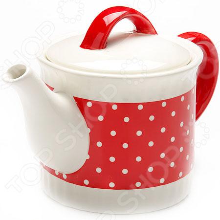Чайник заварочный Loraine LR-25860 «Узор горошка»