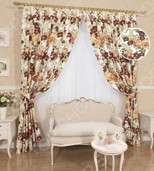 Комплект штор Сирень «Охра» комплект штор с покрывалом для спальни в москве