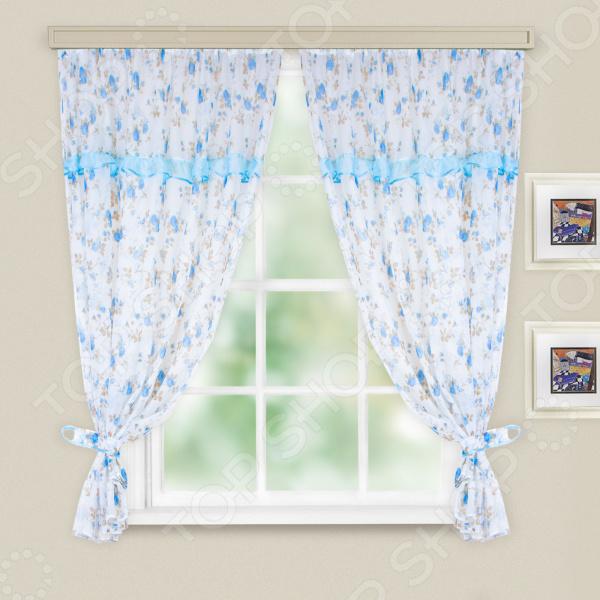 Комплект легких штор WITERRA «Оливия». Цвет: голубой. В ассортименте